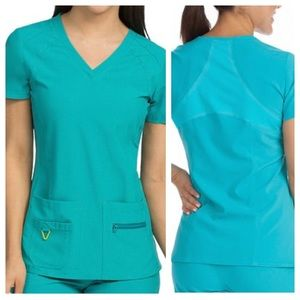 Med Couture scrub set in the color real teal.